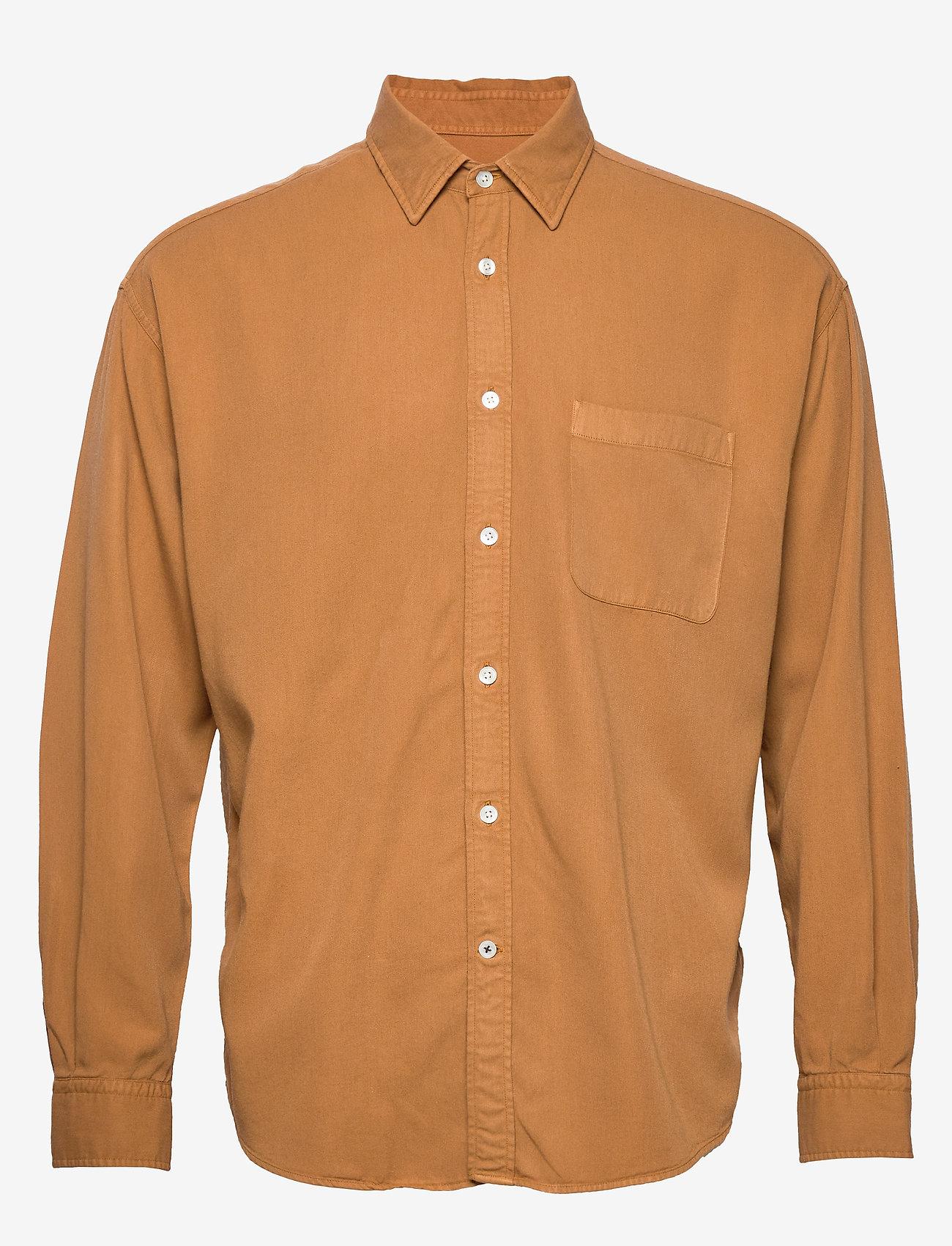 NN07 - Deon Shirt 5161 - peruspaitoja - mustard - 0