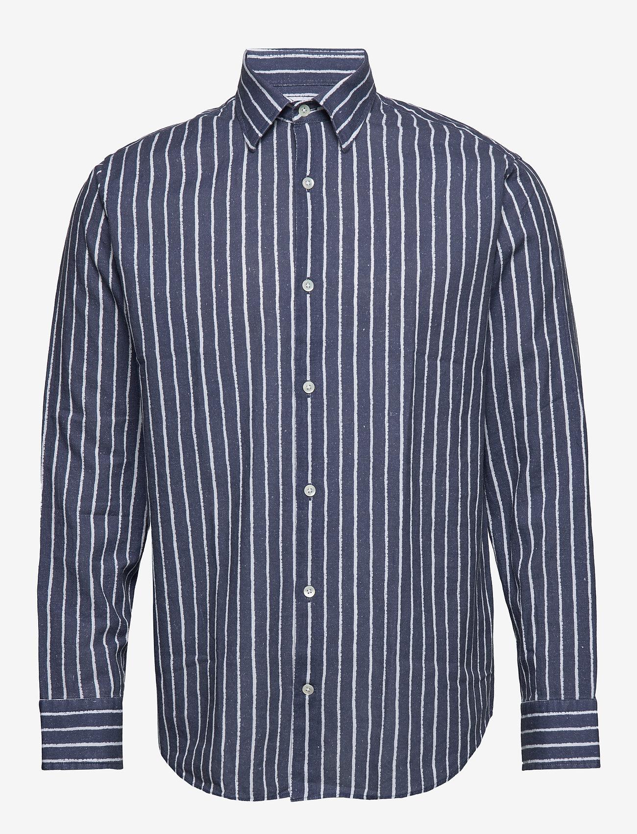 NN07 - Errico Shirt 5212 - casual skjortor - blue stripe - 0
