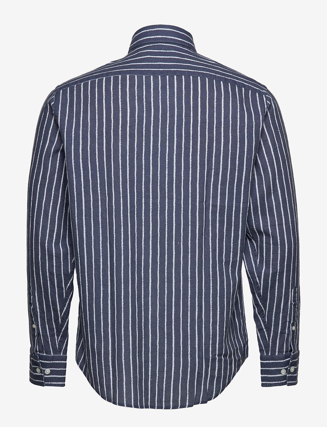 NN07 - Errico Shirt 5212 - casual - blue stripe - 1