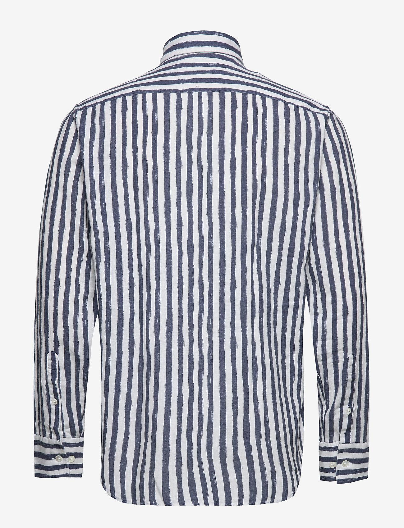 NN07 - Errico Shirt 5212 - casual - navy stripe - 1