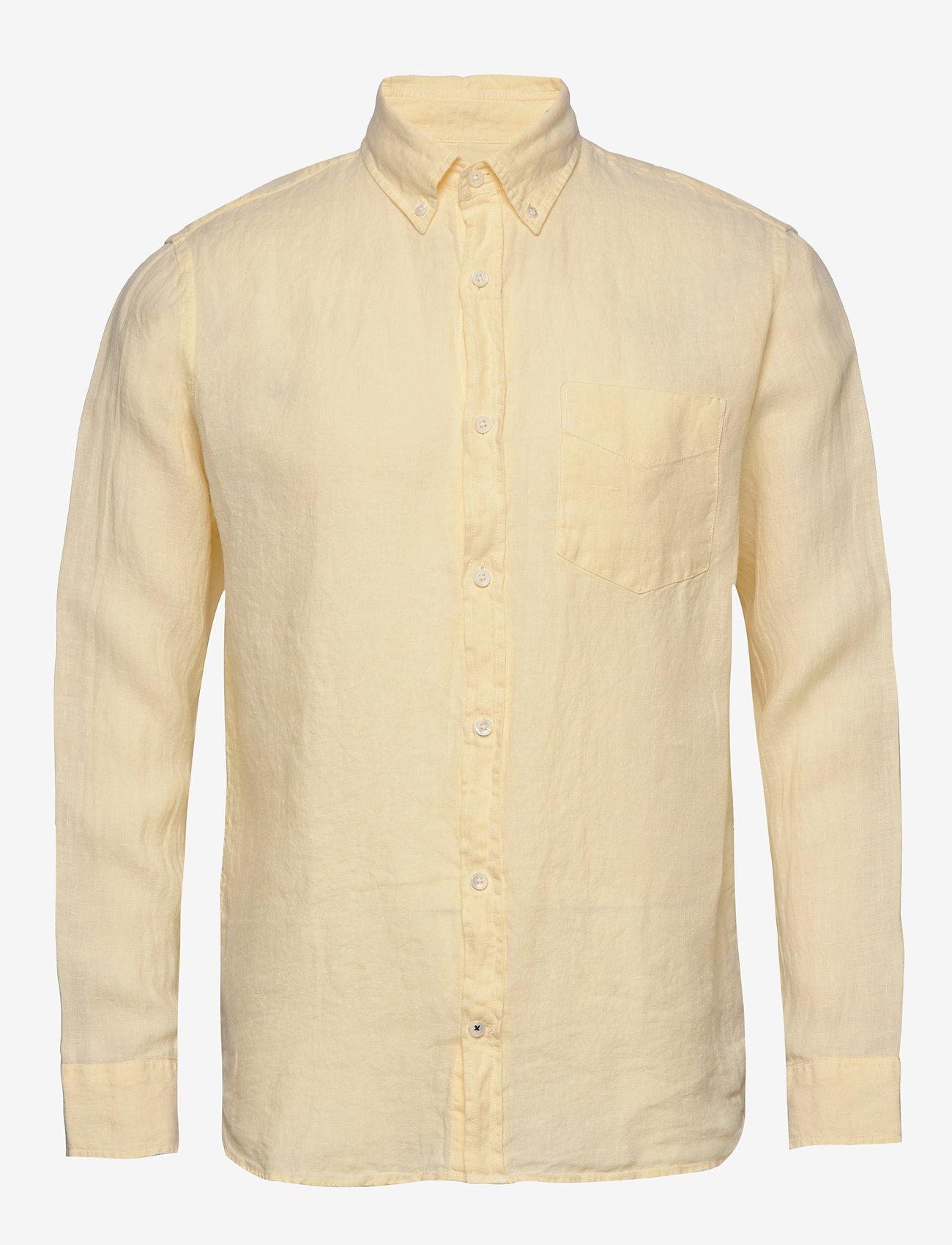 NN07 - Levon Shirt 5706 - peruspaitoja - pale sun - 0