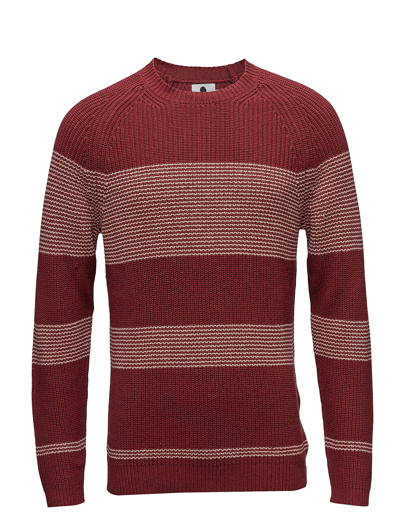 NN07 Crew Neck Stripe 6274 - BRICK RED