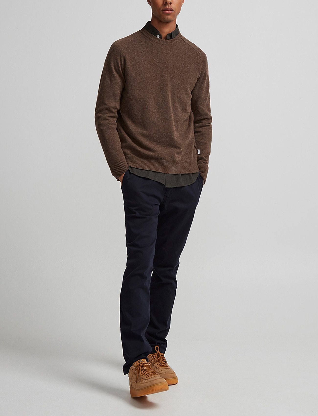 NN07 - Edward 6333 - basic knitwear - brown melange