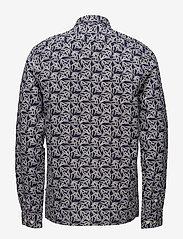 NN07 - Gustav 5018 - chemises de lin - navy print - 1