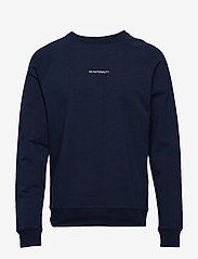 NN07 - Geoff Print 3383 - basic sweatshirts - navy blue - 0