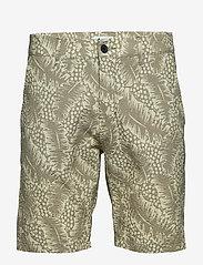 NN07 - Crown Shorts 1382 - casual shorts - green print - 0