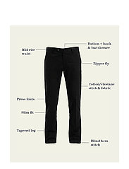 NN07 - Theo 1178 L30 - suit trousers - black - 0