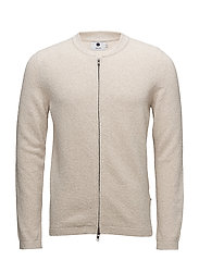 Jake full zip 6259 - O.WHITE/G.MELANGE