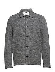 Boiled wool jacket 6189 - ANTRACITE GREY MELANGE