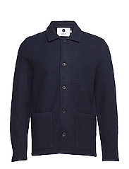 Boiled wool jacket 6189 - NAVY BLUE