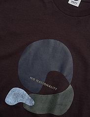 NN07 - Elmer Print 3377 - lyhythihaiset - dark plum - 2