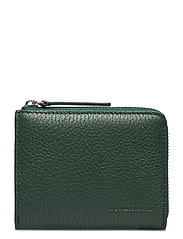 Half Zip Wallet 9107 - BOTTLE GREEN