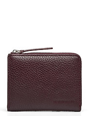 Half Zip Wallet 9107 - DARK PLUM