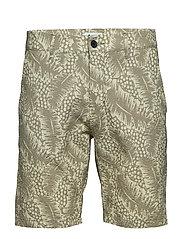 Crown Shorts 1382 - GREEN PRINT