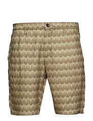 Crown Shorts 1383 - KHAKI PRINT