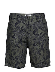 Crown Shorts 1383 - NAVY PRINT