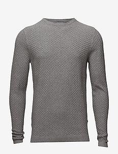 Albert 6194 - pulls col rond - light grey  melange