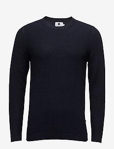 Hubert 6194 - basic strik - navy blue
