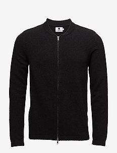 Jake full zip 6259 - cardigans - black