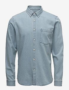 Falk 5849 - denim shirts - lightblue washed