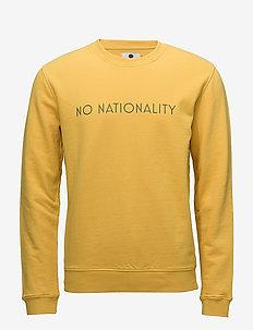 Matteo logo 3355 - sweats - yellow