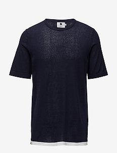 Cotton Short Sleeve 6279 - lyhythihaiset - navy blue
