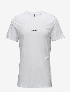 Ethan Print Tee 3234 - kortærmede t-shirts - white