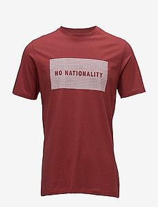 Babu Print Tee 3345 - kortærmede t-shirts - brick red