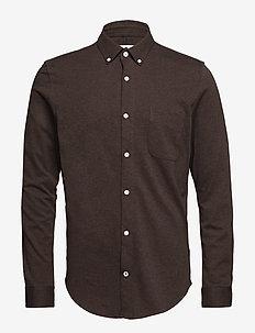 Sean jersey BD 3382 - koszule casual - brown melange