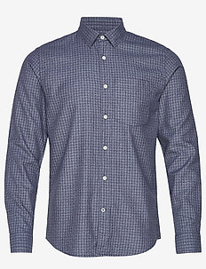 Falko 5039 - checkered shirts - blue check