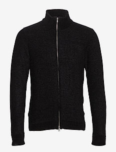 Rib Full zip 6289 - BLACK