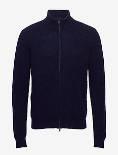Garcia full zip  6303 - basic-strickmode - aqua navy