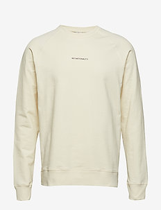 Geoff Print 3383 - basic sweatshirts - off white