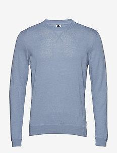 Glen 6311 - basic strik - dusty blue
