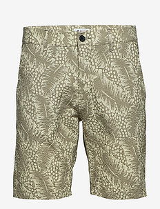 Crown Shorts 1382 - casual shorts - green print