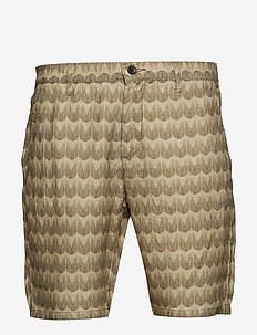 Crown Shorts 1383 - KHAKI PRINT