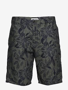 Crown Shorts 1383 - NAVY PRINT