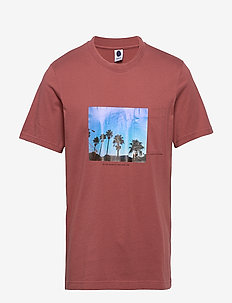 Everett Pocket 3234 - kortærmede t-shirts - red slate
