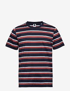 Barry Stripe Tee 3404 - kortærmede t-shirts - multi stripe
