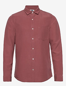 Falko 5106 - basic shirts - red slate