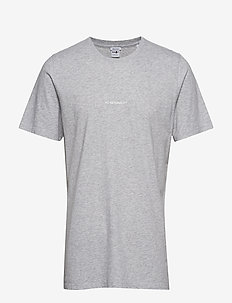Ethan Print Tee 3208 - basic t-shirts - light grey  melange