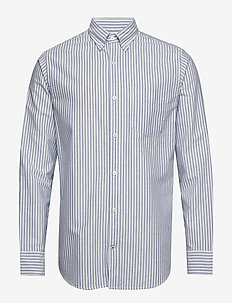 Levon BD 5142 - oxford-skjorter - blue stripe