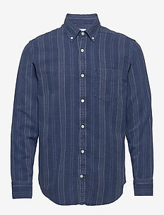 Levon Shirt 5139 - casual - indigo stripe