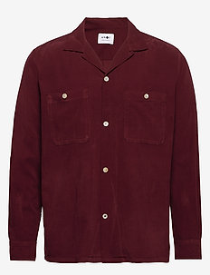 Booker Shirt 5082 - basic overhemden - wine red