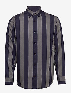 Errico Shirt 5164 - rutiga skjortor - off white stripe