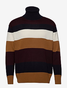Eyre 6364 - turtlenecks - bordeaux stripe
