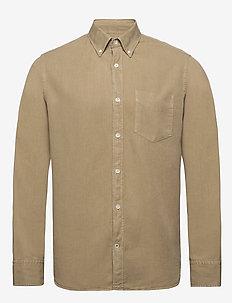 Levon Shirt 5029 - peruspaitoja - dk khaki
