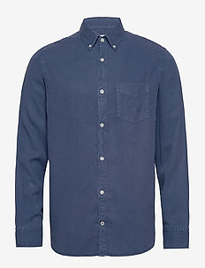 Levon Shirt 5029 - basic skjorter - washed navy