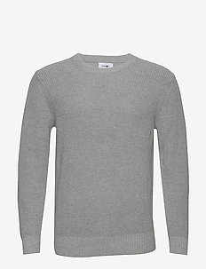Knut 6376 - basic knitwear - medium grey melange