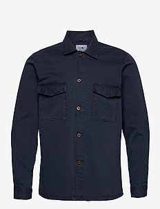 Berner Overshirt 1100 - tops - navy blue